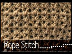 Learn how to Crochet the Rope Stitch (like V Stitch)