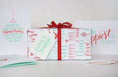Holiday Messages Wrapping Sheets