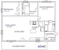 Country Barn Floor Plan living space above stalls 30x40 | Garage ...