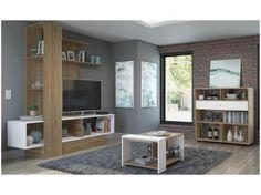 """Rack para TV até 50"""" com Mesa de Centro e Bar - Multimoveis Star com as melhores condições você encontra no site do Magazine Luiza. Confira!"""