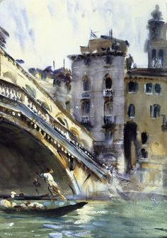 artemisdreaming:  The Rialto, Venice, 1907-11 John Singer Sargent See archive for more: HERE Queue