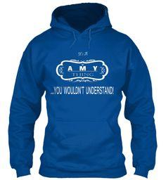 Amy Name Tshirt Royal Sweatshirt Front