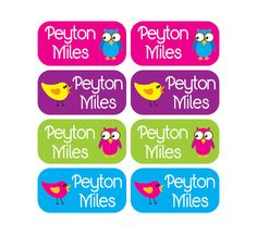100 - Clothing Tag Labels - Set of 100 labels - Daycare Clothing Labels