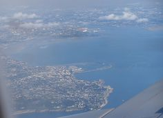 View of Dun Laoghaire/Dublin Bay Dublin Bay, Airplane View, Ireland, Landscape, Places, Scenery, Irish, Corner Landscaping, Lugares