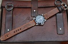 Handmade Vintage Swiss Ammo Leather Watch Strap 20 by MySunnyStore