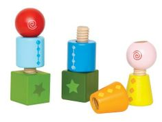 Hape Twist and Turnables by Hape. Save 25 Off!. $11.29. Mix and match creating endless possible combinations. Develops motor skills and stimulates imagination. For ages 2 to 4 years. Hape finishes are all non-toxic, child safe, and of the highest quality. 8 basic nuts and bolts in four bright colors and shapes. From the Manufacturer                Twist and Turnables blocks by Hape give construction a new twist with screw-together shapes that won't come tumbling down. Eight b...