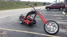 Black and Red Death Chopper | See the bikes --> www.TotallyRadChoppers.com | #choppers #motorcycles http://totallyradchoppers.com/black-and-red-death-chopper/