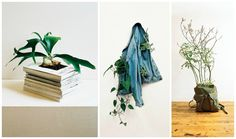 """""""Underground"""" serie by AURELIEN ARBET - JEREMIE EGRY  ++AA-JE #Bag, #Book, #Decoration, #Jean, #Planter, #Recycled"""