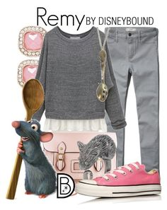 """Remy"" by leslieakay ❤ liked on Polyvore featuring Forever New, Abercrombie & Fitch, CO, Disney, Marc by Marc Jacobs and Converse"
