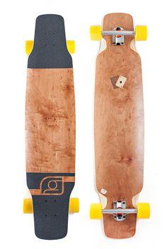 Bareknuckle Lombard Complete Longboard mit Holzintarsien. #holzintarsien #ass  www.endless-skate.de