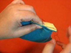 invisible ladder stitch tutorial to close up pillows or rice bags or repair stuffed animals.
