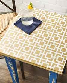 Craft Painting - Geometric Small Table with FolkArt Home Decor Paint