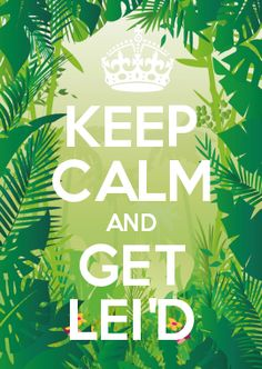 KEEP CALM AND GET LEI'D