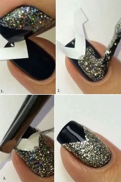 Simple-Easy-Happy-New-Year-Eve-Nail-Art-Tutorials-2015-2016-6