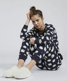 Long sheep print pyjama pack - 0