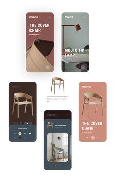 MUUTO Store (unofficial) on Inspirationde Web Design, Website Design Layout, App Ui Design, User Interface Design, Layout Design, Flat Design, App Design Inspiration, Conception D'applications, Ui Design Mobile