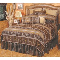Shop for rustic bedding, lodge comforters, berry bedding and cabin creek home bedding, from Silverado and Wooded River. Southwestern Bedding, Southwest Decor, Rustic Comforter, Comforter Sets, Leather Bed, Leather Furniture, Western Decor, Rustic Decor, Wood River