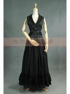 Noir Gothic Deux Piece Suit