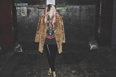 northern-magpie-band-tee-2 fashion blogger, design, toyshop, leopard print, faux fur coat, leather trousers, lace up sandals, zara