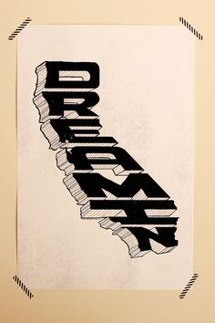 California Dreamin' Poster - 24 x 36 Oversized Silkscreen Print - Hand Printed - Hero Design Studio