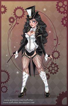 New Steampunk DC Superheroine Designs By NoFlutter