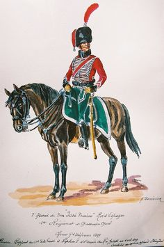 Spanish; Forces of King Jose I(Joseph Bonaparte).1st Chasseus a Cheval, Officer in Grande Tenue 1809