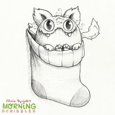 Artist Chris Ryniak - morning scribbles