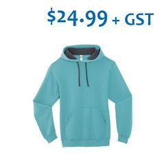 September Promotion $24.99, Minimum 24 pieces. Adult Fruit of the Loom (R) Sofspun (TM) Hooded Sweatshirt. 12-oz, 60/40 cotton/polyester preshrunk fleece. Tear away label. Taped neck and shoulders. Contrast jersey lined hood and drawstring. 1x1 rib knit cuffs and waistband. Front media pocket securely holds gadgets. Tax, setup and artwork fees apply. Offer ends September 30, 2015. Hooded Sweatshirts, Hoodies, Fruit Of The Loom, Rib Knit, Contrast, Fashion, Moda, Sweatshirts, Fashion Styles