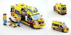 Lego Ambulance, Lego Police Station, Transporter Van, Lego Fire, Lego Vehicles, Lego Design, Lego Models, Mercedes Sprinter, Lego Moc