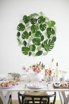 Diy Pared decorada con hojas naturales http://blgs.co/kmIbG7