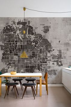 Wall & Deco design and decoration design office Interior Architecture, Interior And Exterior, Map Wallpaper, Graphic Wallpaper, Modern Wallpaper, Wallpaper Ideas, Deco Design, Map Design, Graphic Design