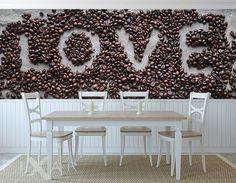 Kawowe love - fototapeta pachnąca arabiką Table Decorations, Inspiration, Shop, Furniture, Home Decor, Pictures, Coffee Love, Kitchen Dining Rooms, Photo Wallpaper