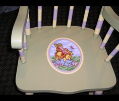 Hand painted rocking chair made by me. #handpainted rocking chair