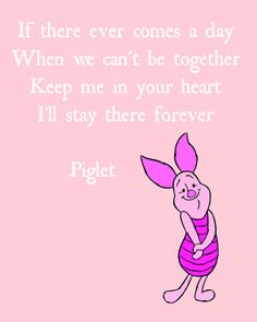 Piglet Quote Printable - Digital Instant Download