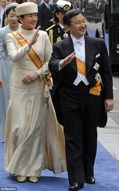 Crown Prince Naruhito and Crown Princess Masako of Japan attend the inauguration of Dutch King Willem-Alexander, April 30, 2013.