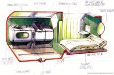 Pontus Fontaeus sketch of VW Magelan Interior