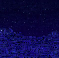 This animated gif of city lights turning on is pretty to look at.