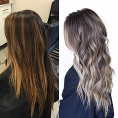 Before & After #HabitSalon #BabyLights #HairInspo
