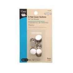 Cover Button Kit Flat Size18L (7/16),$1.08