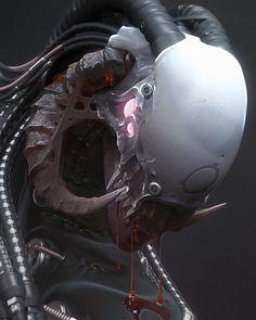ArtStation - Fallen Alien Lord, by Mark Van Haitsma More robots here.