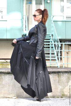 Купить Черная юбка в пол - черный, однотонный, черная юбка, юбка длинная, юбка в пол