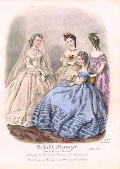Fashion plate, 1863 France, Le Petit Messager