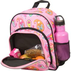 Wildkin Olive Kids Paisley Pack n Snack   - Click image twice for more info - See a larger selection of pink backpacks at http://kidsbackpackstore.com/product-category/pink-backpacks/ -  kids, juniors, back to school, kids fashion ideas, teens fashion ideas,  school supplies, backpack, bag , teenagers girls , gift ideas, pink.