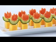 Super Mario Fire Flower Appetizers by Nerdy Nummies