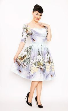 Bernie Dexter Jubilee Winter Print Dress