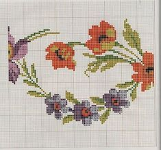 This post was discovered by La Cross Stitch Borders, Cross Stitch Flowers, Cross Stitch Designs, Cross Stitching, Cross Stitch Patterns, Crewel Embroidery, Cross Stitch Embroidery, Diy Crafts Hacks, Diy And Crafts