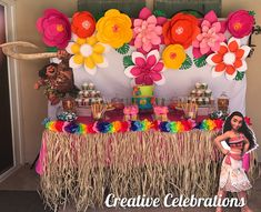 SWIIIIPPEEE—> This little girl's birthday party was so cute! Moana and Maui were the perfect addition to our Hawaiian themed set up… Moans Birthday Party, 1st Birthday Party Games, Ballerina Birthday Parties, Birthday Party Tables, Hawaiian Birthday, Luau Birthday, 1st Birthday Girls, Moana Birthday Decorations, Hawaiian Party Decorations