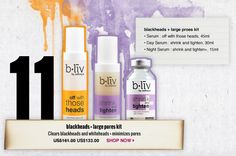 Blackheads & Large Pores Kit - For mild acne skin with large pores  #blivinbeauty and #pinmetowinme