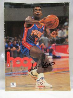 Isaiah Thomas Detroit Pistons Signed AUTOGRAPHED Hoop Game Program GA Holo  COA 098ccf0c7