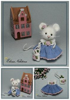 Miniature Mouse hand made by Elena Nikitina